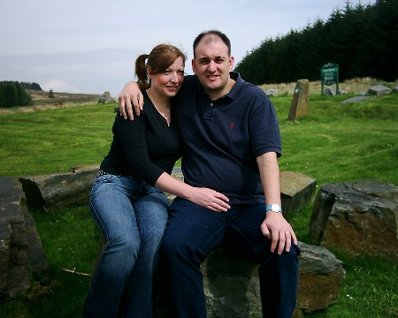 Tracy & Michael Ludwig at the Rhigos Mountain